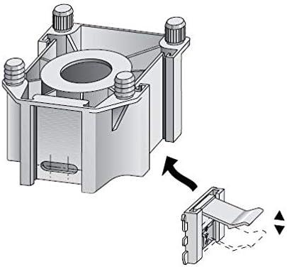 5 x Sockel Halterung 12-16 mm Universal Befestigung Klammer Blendenhalter Küche