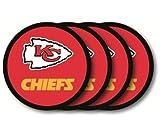 Kansas City Chiefs Coaster Set - 4 Pack