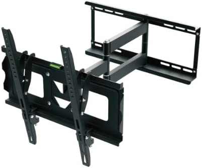 Ematic FULL MOTION Television Wall Mount 70 Inch LCD TV Screen Displays, Slim Design, Two Piece, Easy Install,