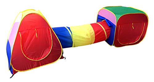 Amazon.com Cubby-Tube-Teepee 3pc Pop-up Play Tent Children Tunnel Kids Adventure Station by POCO DIVO Toys u0026 Games  sc 1 st  Amazon.com & Amazon.com: Cubby-Tube-Teepee 3pc Pop-up Play Tent Children Tunnel ...