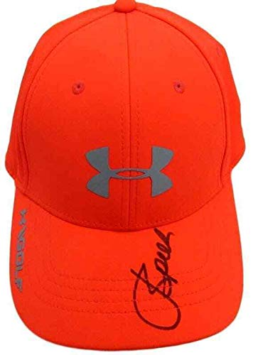 909bb0425f7 Jordan Spieth Autographed Signed Orange Under Armour Golf Hat Cap 130133 - JSA  Certified - Autographed Golf Equipment at Amazon s Sports Collectibles Store