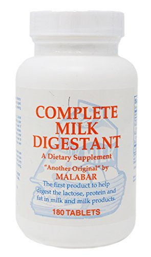 Malabar Complete Milk Digestant, 180 Count