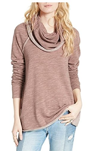 Free People Ladies  Cowl Neck Pullover  Xs S  Rose