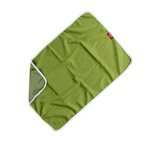Duckery Kid PVC FREE Waterproof Baby Diaper Changing Pad in Vibrant Color for Home and Travel (green)