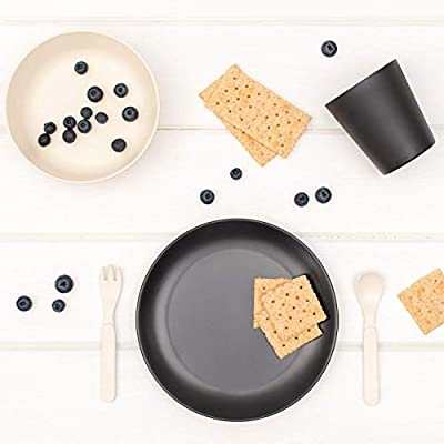 Great Gift for Birthdays Monochrome Christmas /& Preschool Graduations /… Bobo/&Boo Bamboo 5 Piece Children/'s Dinnerware Non Toxic Kids Mealtime Set for Healthy Infant Feeding