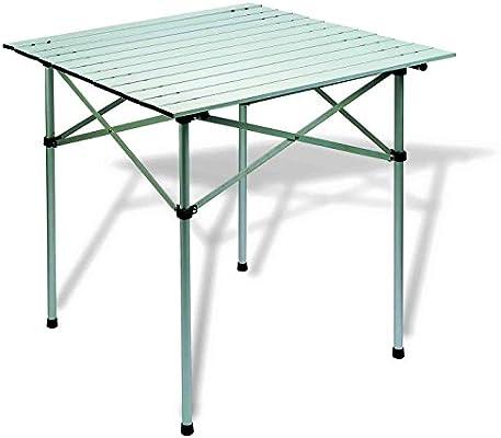 Hosa - Mesa Plegable de Aluminio Ultraligera Cuadrada 70 x 70 ...