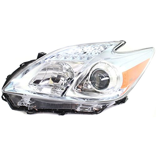 (Elite7 Headlight Headlamp CLEAR For Toyota Prius Base DOT Certified LH Drivers)