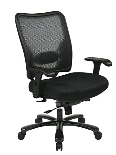 SPACE Seating Double AirGrid Big and Tall Back and Black Mesh Seat Ergonomic Managers Chair