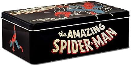 Logoshirt Caja Hombre Araña - Lata de Metal Marvel Comics The Amazing Spider-Man - Coloreado - Diseño Original con Licencia: Amazon.es: Juguetes y juegos