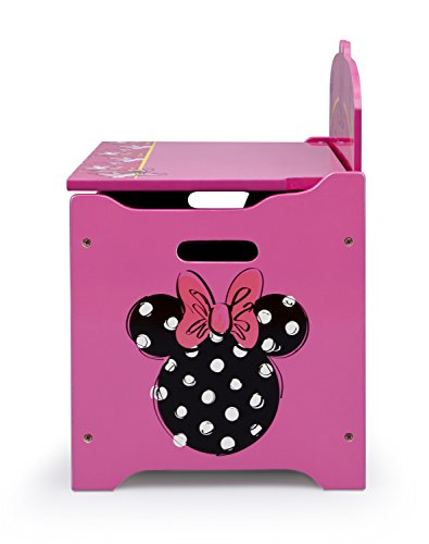 41ewR cNfnL - Delta Children Deluxe Toy Box, Disney Minnie Mouse