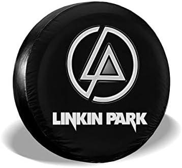 リンキンパーク ロゴ Linkin Park Logo へタイヤカバー タイヤカバー スペアタイヤカバー タイヤ袋 へタイヤバッグ タイヤトート へタイヤ ホイール 保管 タイヤ 収納 に便利 防紫外線 防塵 防水 厚手生地 劣化対策 長持ち