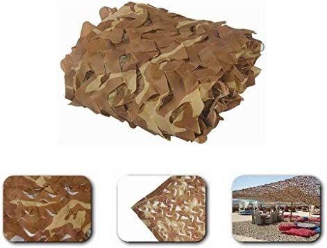 Ejército Red de Camuflaje del Desierto Crema de Protección Solar Redes de Malla Redes de Sombra 2x3m 3x5m para Caza Militar Tiro Ciegos Camping Tiendas Pérgola Cubierta Jardín Decoraciones Navidad: Amazon.es: Hogar