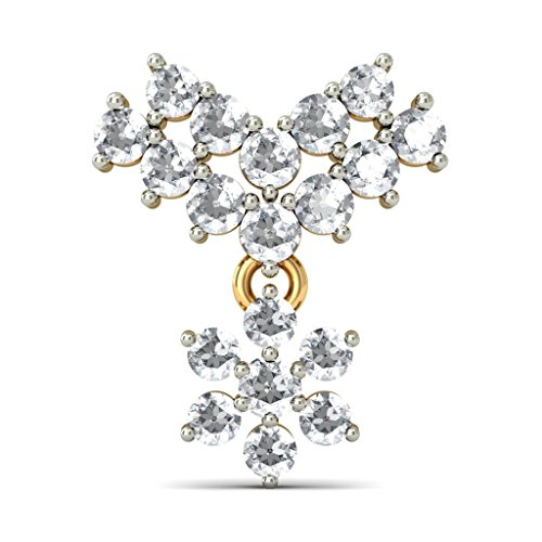 Or jaune 18 K 0,64 CT TW White-diamond (IJ | SI) Pendants d'oreilles