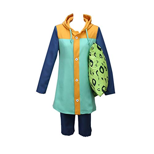 HICOSER Harlequin King Cosplay Costume Halloween Uniform Outfit Suit Green -