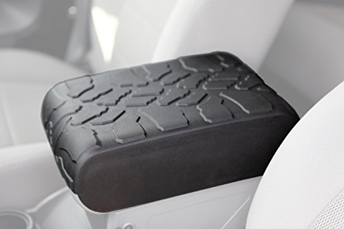 Boomerang Tire Tread Armpad for 2007-2010 Jeep Wrangler JK - Center Console Armrest Cover