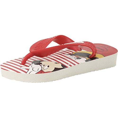 Havaianas Little Girl's Disney Stylish White Flip Flops Sand