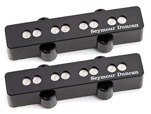 Seymour Duncan Quarter Pound 4-String Jazz Bass Pickup Set Black 11402-56 w/Bonus Beverage-Opener Keychain 800315040193