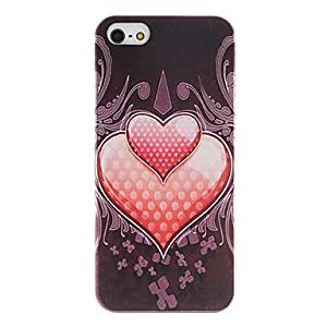 Heart in Heart Pattern PC Hard Case with Interior Matte Protection for iPhone 5/5S