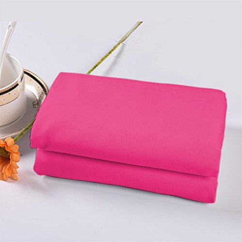 Pink Pillowcase (Lullabi Bedding 100% Brushed Microfiber Ultra Soft Pillow Case Set of 2 - Envelope Closure End - Wrinkle, Fade, Stain Resistant, Standard-Queen Size Pillowcase (Pink))