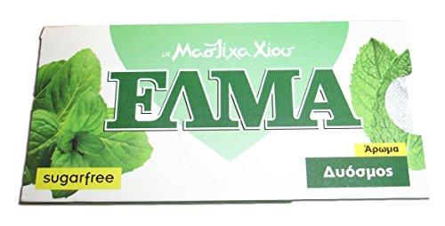 Chios Elma Mastic Gum Spearmint Flavor 5x10 Pieces / 5x14gr - From 100% Fresh Original Xios (Masticha or Mastixa)
