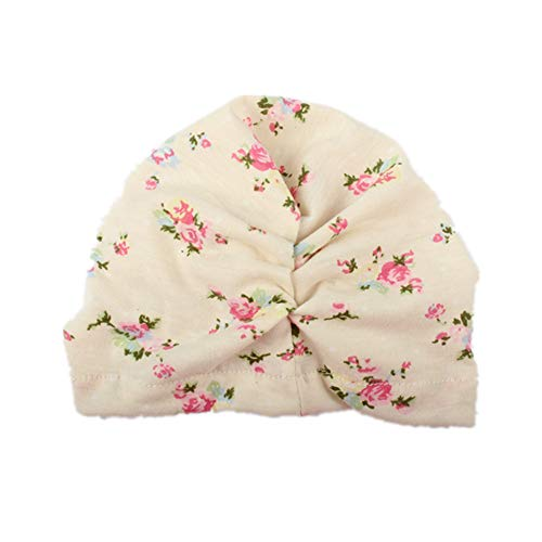 Price comparison product image Aobiny Cute Newborn Toddler Kids Baby Boy Girl Turban Cotton Beanie Hat Winter Warm Cap Head Wraps-4 Colors (B)