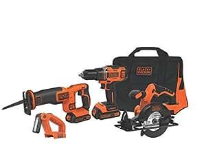 "Black & Decker BDCDHP2204KT 20V MAX 1/2"" Drill/Driver 4-Tool Combo Kit"