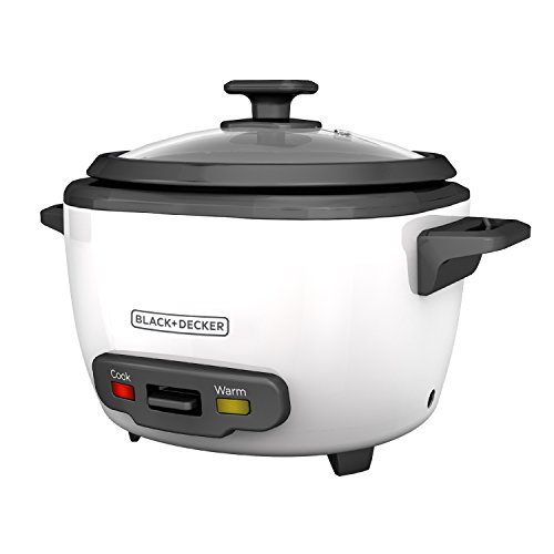 BLACK+DECKER 16-Cup Cooked/8-Cup Uncooked Rice Cooker and Food Steamer, White, ()