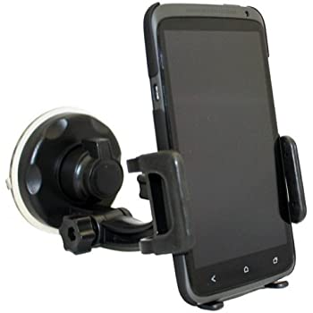 Xenda Universal Windshield Car Mount Cell Phone Holder Window Suction Cup Dock for iPhone 6 / 6 Plus / 5S 5C 5 4S - iPod Touch Nano - Samsung Galaxy S5 S4 ...