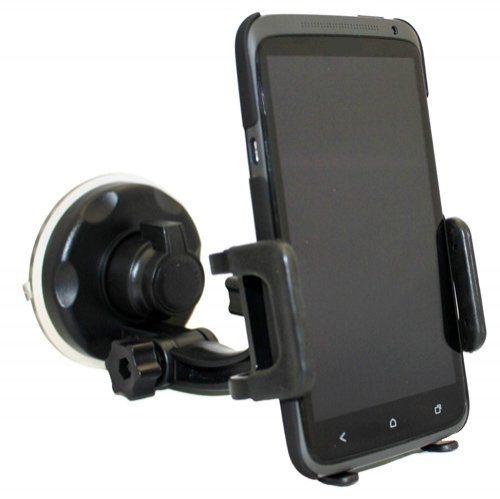 (Xenda Universal Windshield Car Mount Cell Phone Holder Window Suction Cup Dock for Samsung Galaxy Rugby Pro - Samsung Trender - Samsung Galaxy Metrix 4G - Samsung Focus S)