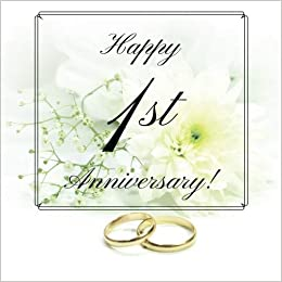 Happy 1st Anniversary Guest Book Free Layout Message Book For