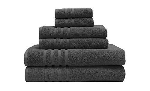 Elite Home Super-Soft Bamboo Origin 6-Piece Towel Set
