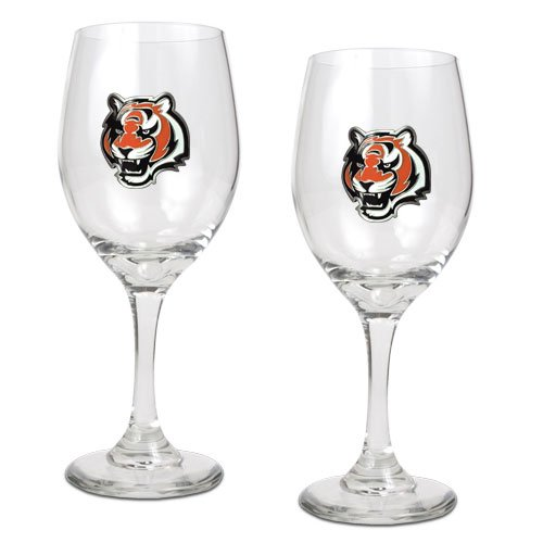 Nfl Glass Candy Jar - NFL Cincinnati Bengals 14-Ounce Wine Glass (Set of Two)