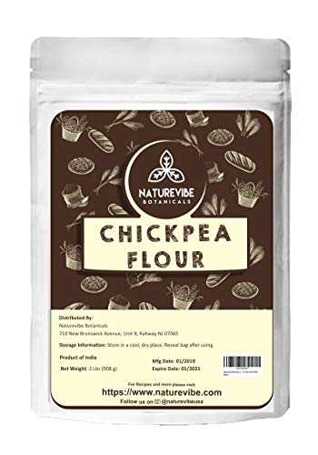 (Naturevibe Botanicals Chickpea Flour 2Lb | Gluten Free & Non GMO | Rich in Fiber and Protein [Packaging may Vary])
