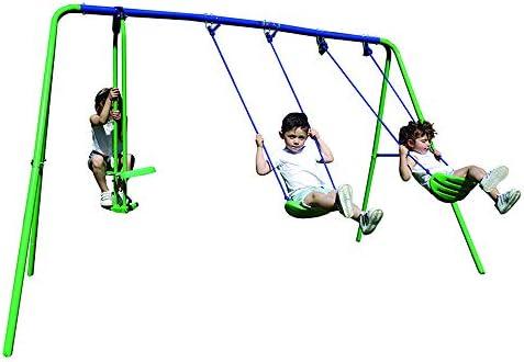 My Swing Play 31 Columpio Infantil Triple, Verde y Azul: Amazon.es: Jardín