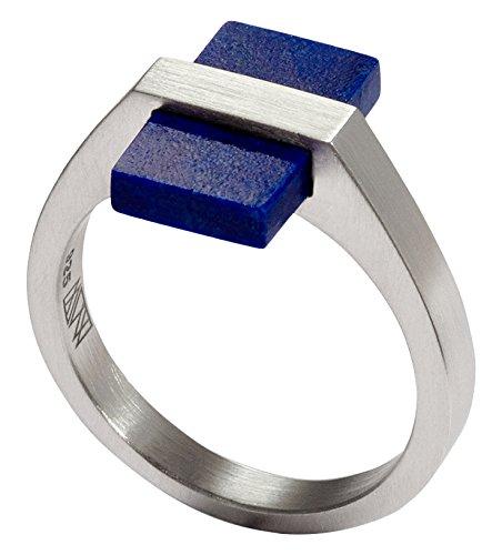 Ming Yu Wang femme  Argent 925/1000  Argent Rectangulaire   Bleu Lapis Lazuli
