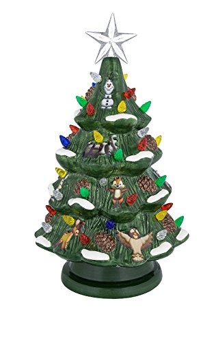 Disney Christmas Tree (Disney Parks Retro Ceramic Light-Up Holiday Christmas Tree New with Box)