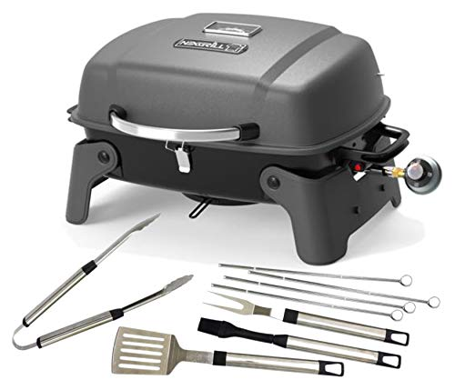 Nexgrill 1-Burner Portable Propane Gas Table Top Grill with 8-pc Tool Set