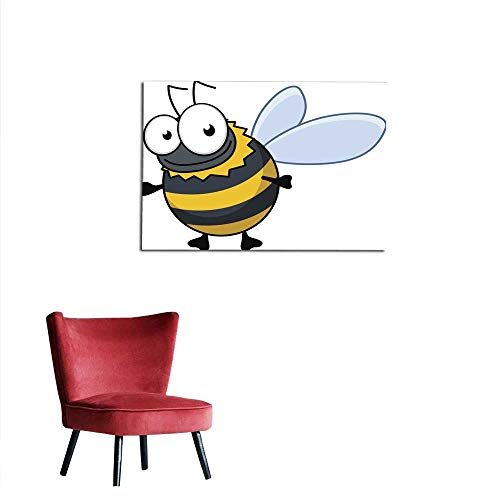Photo Wall Paper Flying Cartoon Bumble bee or Hornet Mural 24