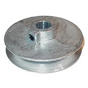 """Chicago Die Cast 500A  5"""" x 5/8"""" Die-Cast V-Grooved Pulley"""