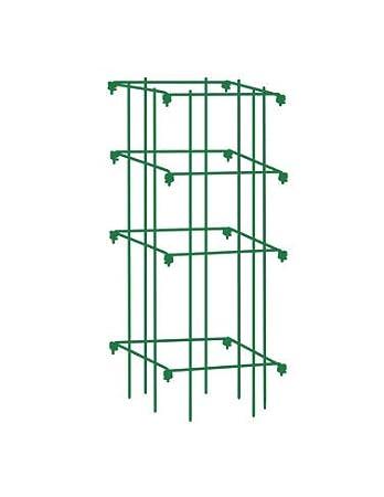 Amazon.com : Square Tomato Cage, Single, Green : Trellises : Garden ...