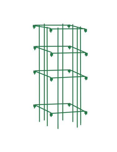 Square Tomato Cage Single Green