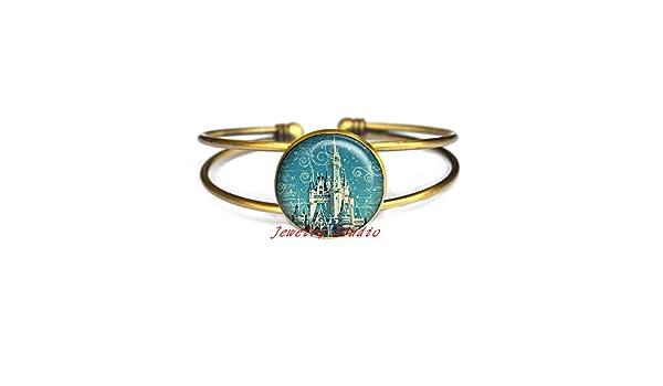 fairy tale castle Bracelet Magic Kingdom Bracelet castle Bracelets princess Bracelets fairy tale jewelry-HZ00451 Magic Kingdom Bracelets