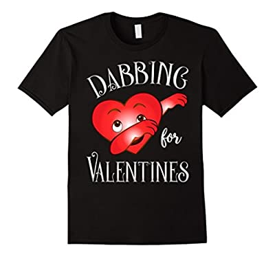 Cute and Funny Dabbing For Valentines Day Heart Love T-Shirt