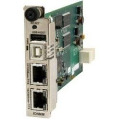 Transition ION MANAGEMENT MODULE - Network management device - 10Mb LAN, 100Mb LAN - plug-in module - for Transition 19-Slot Chassis for The ION Platform, ION 19-Slot Chassis, 1-Slot Chassis - IONMM
