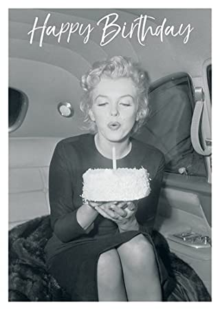 Postkarte A6 LUSTIG Von Modern Times MARILYN MONROE HAPPY BIRTHDAY