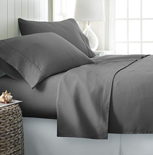 Heavy Fabric Sheet Set Solid Pattern 1500 Thread Count Heavy Fabric Rich Egyptian Cotton Quality 4-Pieces Luxurious Sheet Set Fits Mattress 19-21