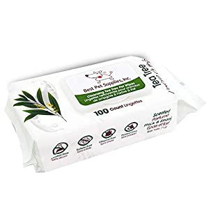 Best Pet Supplies Pet Wipes for Dogs & Cats Extra Soft & Strong Grooming Wipes with Gentle Plant-Derived Formula