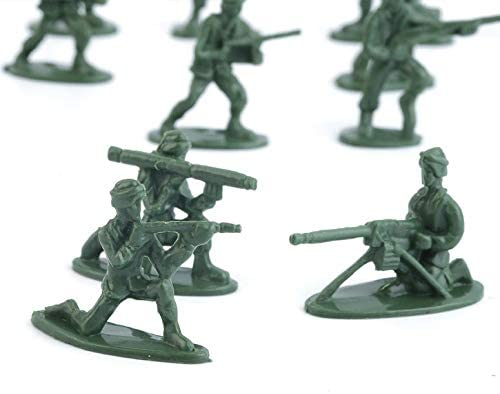 100pcs//Pack Military Plastic Toy Soldiers Army Men Figures 12 Poses Perfect for gifts or Collection Good for Intelligence