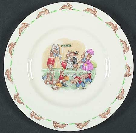 Royal Doulton Bunnykins (Albion Shape) Salad Plate, Fine China Dinnerware