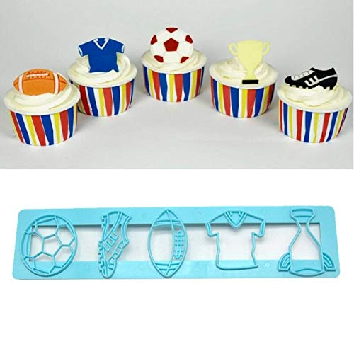 World Cup Soccer Sheets - Cookie Cutter Molds World Cup Football Soccer Trophy Cup shirt DIY Fondant Molds Cutters Sugarcraft Moulds Cake Desserts Decorating Tools